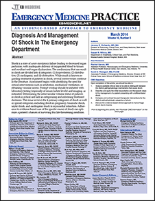 Diagnosis And Management Of Shock In The Emergency Department