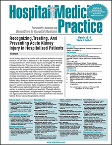 Recognizing, Treating, And Preventing Acute Kidney Injury In Hospitalized Patients
