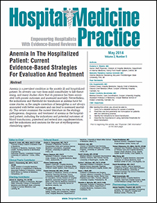 Anemia In The Hospitalized Patient: Current Evidence-Based Strategies For Evaluation And Treatment