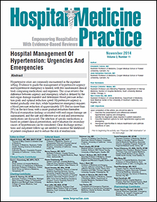 Hospital Management Of Hypertension: Urgencies And Emergencies