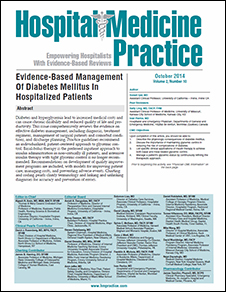 Evidence-Based Management Of Diabetes Mellitus In Hospitalized Patients