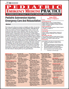 Pediatric Submersion Injuries: Emergency Care And Resuscitation (Trauma CME)