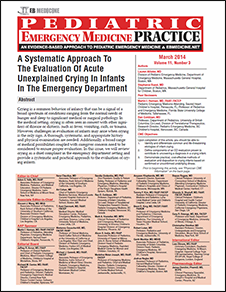 A Systematic Approach To The Evaluation Of Acute Unexplained Crying In Infants In The Emergency Department
